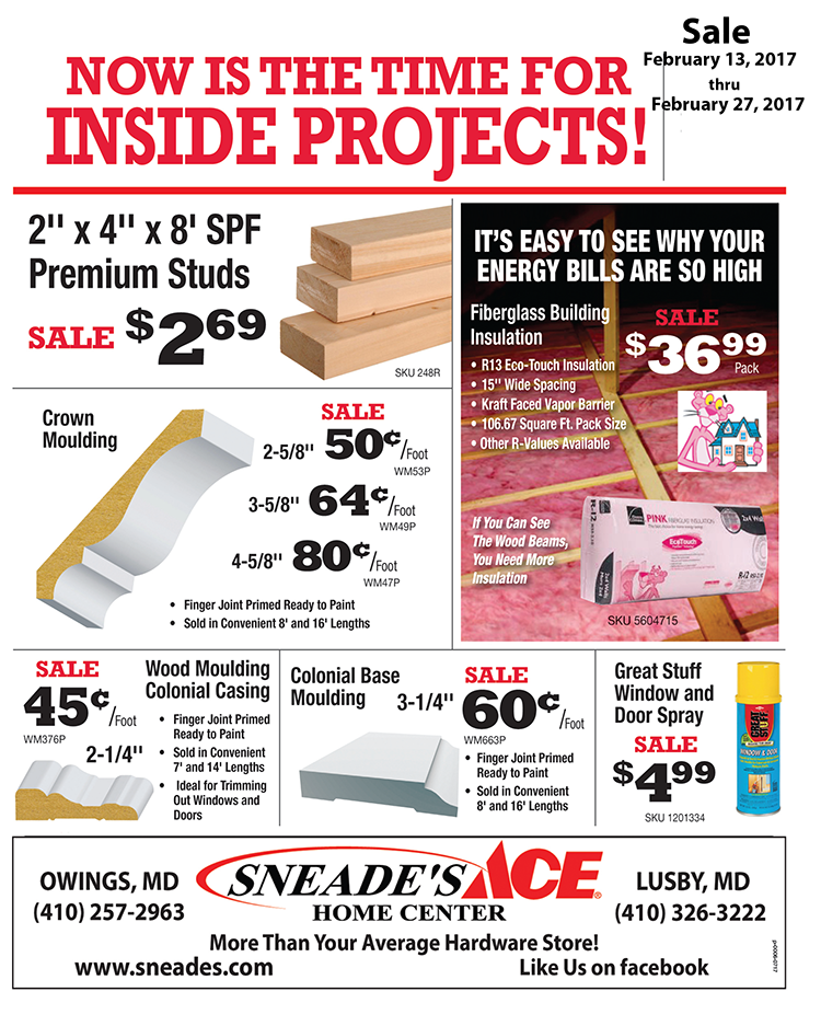 Lumber Sale Feb 2017 - Sneade's Ace Home Centers