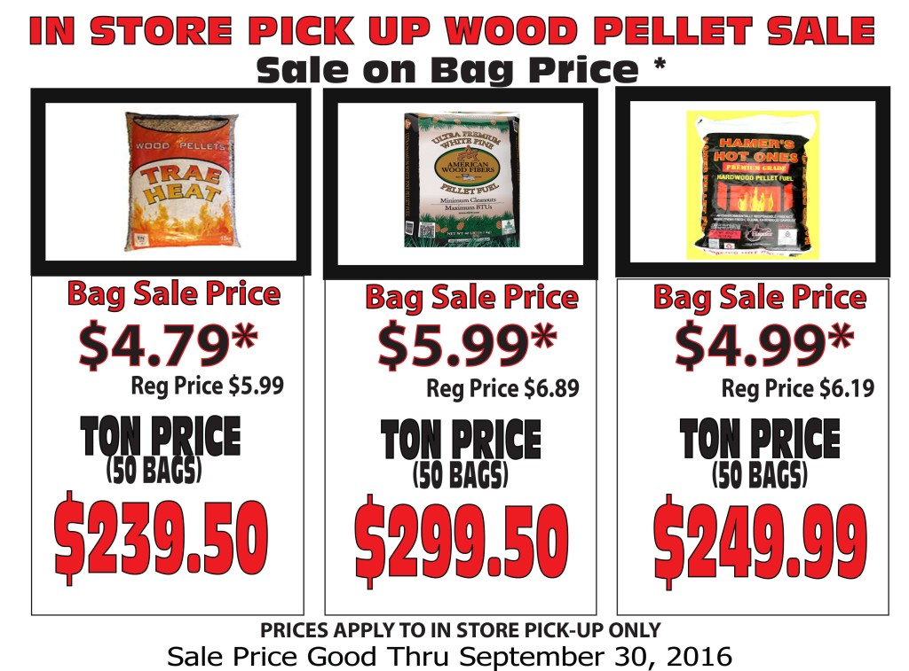 WOOD PELLET SALE T &AW & H SUMMER 2016r30 SEPT