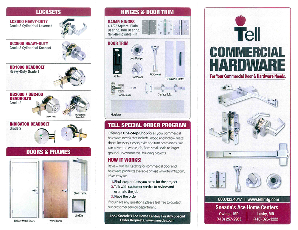 tell commercial hardware outside