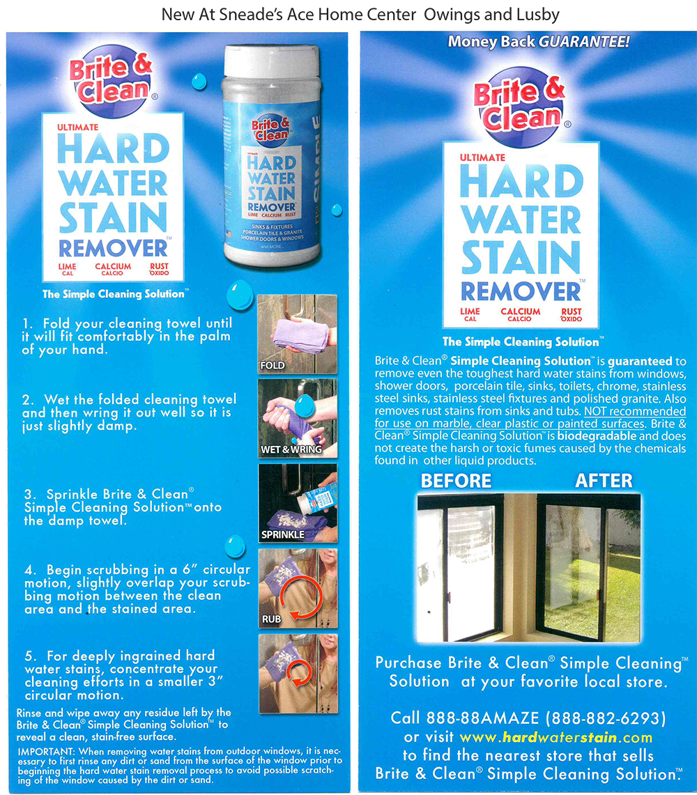 New Item At Sneade\'s Ace - Hard Water Stain Remover - Sneade\'s Ace ...