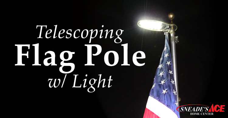telescoping flag pole with light featured