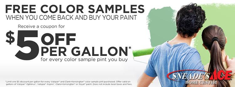 five dollar rebate on paint samples