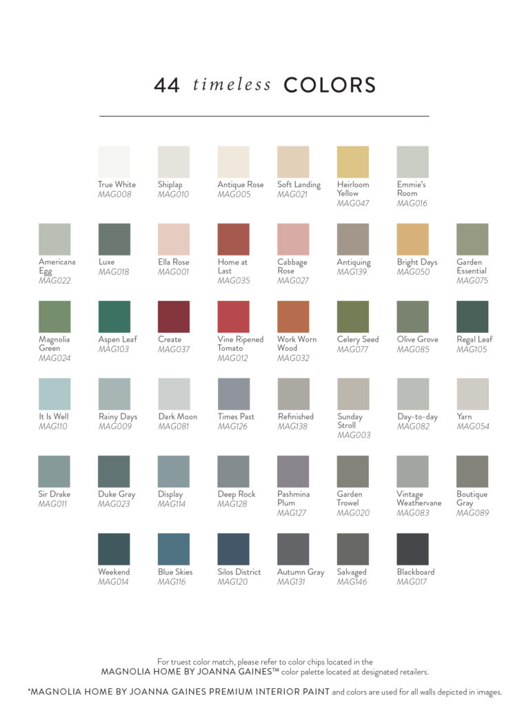 Magnolia chalk style paint sneade 39 s ace home centers for Magnolia home paint colors