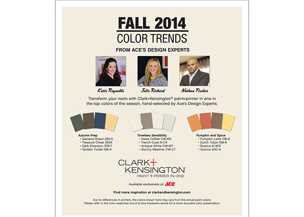Fall 2014 Color Trends Sneade S Ace Home Centers
