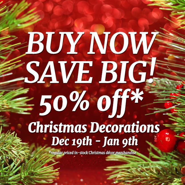 50 off Holiday Ornament Sale Image