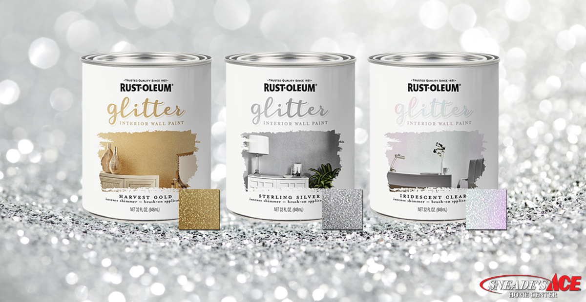 Glitter Paint Is The Newest Home Decor Trend Sneade S Ace